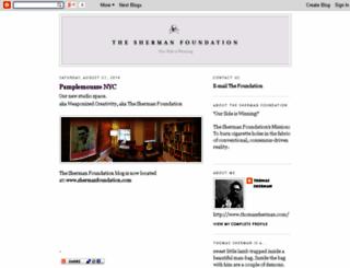 theshermanfoundation.blogspot.com screenshot