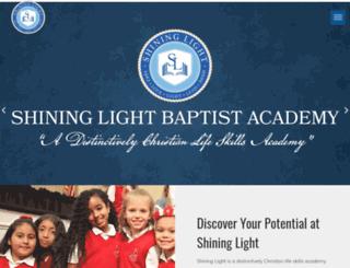 theshininglightbaptistacademy.com screenshot