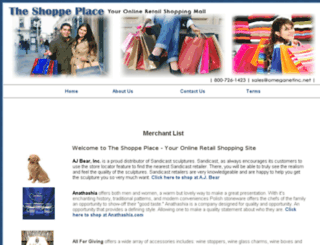 theshoppeplace.com screenshot