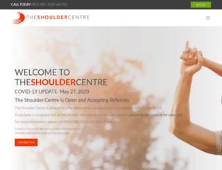 theshouldercentre.ca screenshot