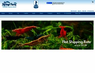 theshrimpfarm.com screenshot