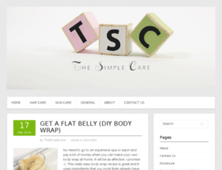 thesimplecare.com screenshot