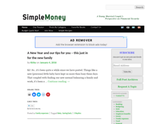thesimplemoneyblog.com screenshot