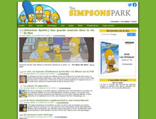 thesimpsonspark.com screenshot