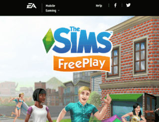 thesimsfreeplay.eamobile.com screenshot