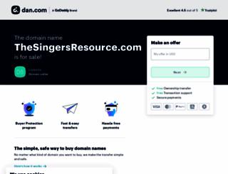 thesingersresource.com screenshot