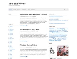thesitewriter.com screenshot