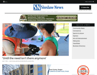 thesiuslawnews.com screenshot