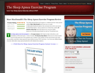 thesleepapneaexerciseprogram.com screenshot