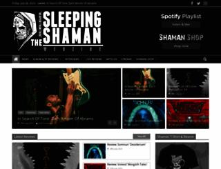 thesleepingshaman.com screenshot