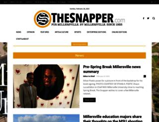 thesnapper.millersville.edu screenshot