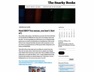 thesnarkybooks.wordpress.com screenshot