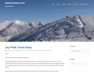 thesnowway.com screenshot