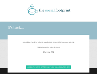 thesocialfootprint.com screenshot
