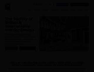 thesocietyofbritishinteriordesign.org screenshot