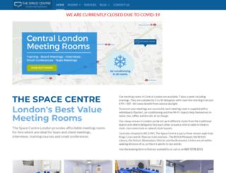 thespacecentre.com screenshot