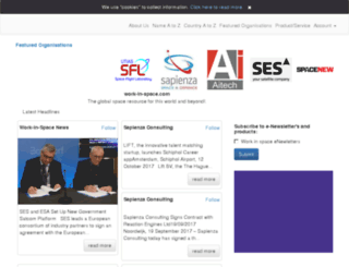 thespacedirectory.com screenshot