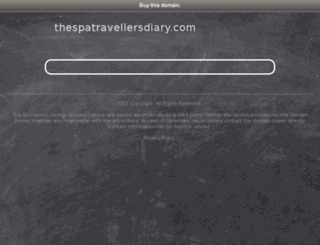 thespatravellersdiary.com screenshot