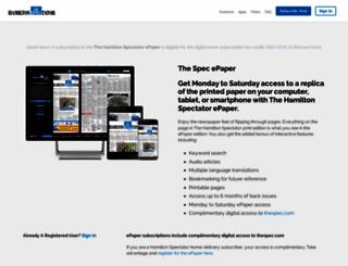 thespec.newspaperdirect.com screenshot