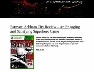 thespidermangames.com screenshot