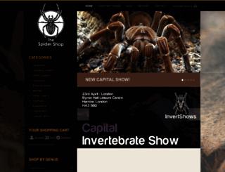 thespidershop.co.uk screenshot