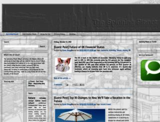 thespinningplanetblog.blogspot.com screenshot
