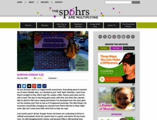 thespohrsaremultiplying.com screenshot