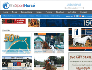 thesporthorse.com screenshot