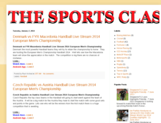 thesportsclash.blogspot.com screenshot