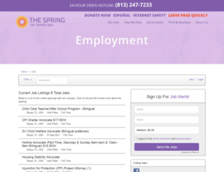 thespring.applicantpro.com screenshot
