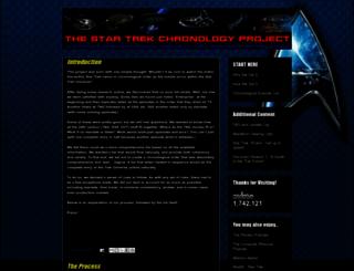 thestartrekchronologyproject.blogspot.com screenshot