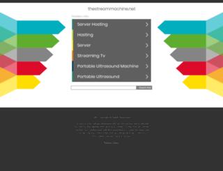 thestreammachine.net screenshot