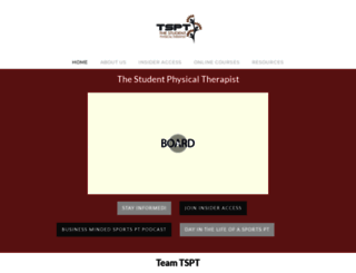 thestudentphysicaltherapist.com screenshot