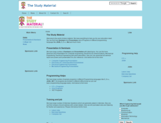 thestudymaterial.com screenshot