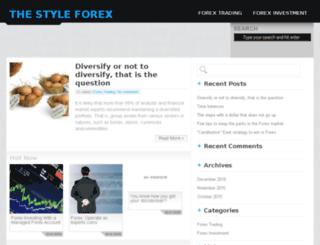 thestyleforex.com screenshot