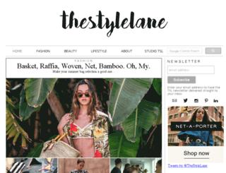 thestylelane.com screenshot