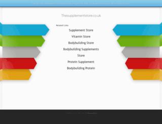 thesupplementstore.co.uk screenshot