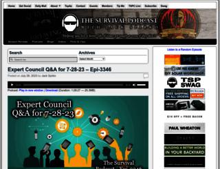 thesurvivalpodcast.com screenshot