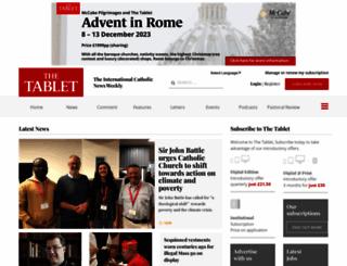 thetablet.co.uk screenshot