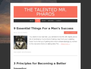 thetalentedmrpharos.com screenshot