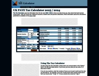 thetaxcalculator.net screenshot