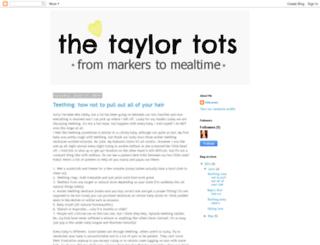 thetaylor-tots.blogspot.com screenshot