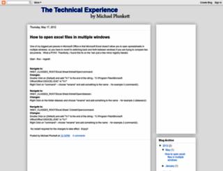 thetechnicalexperience.blogspot.com screenshot