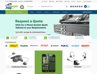 thetelecomshop.co.uk screenshot