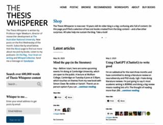 thethesiswhisperer.wordpress.com screenshot