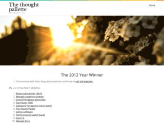 thethoughtpalette.co.uk screenshot