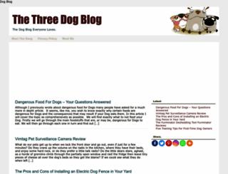 thethreedogblog.com screenshot