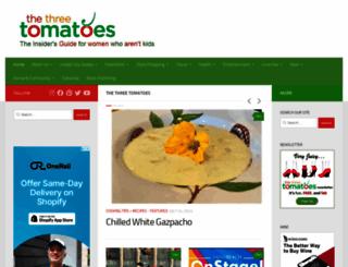 thethreetomatoes.com screenshot