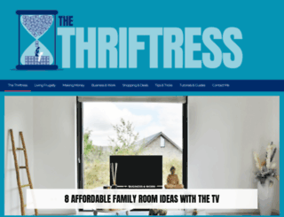 thethriftress.com screenshot