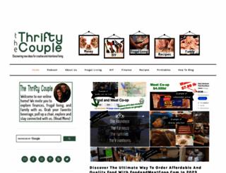 thethriftycouple.com screenshot